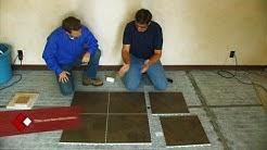 SnapStone Porcelain Tile Installation - Floor Installation