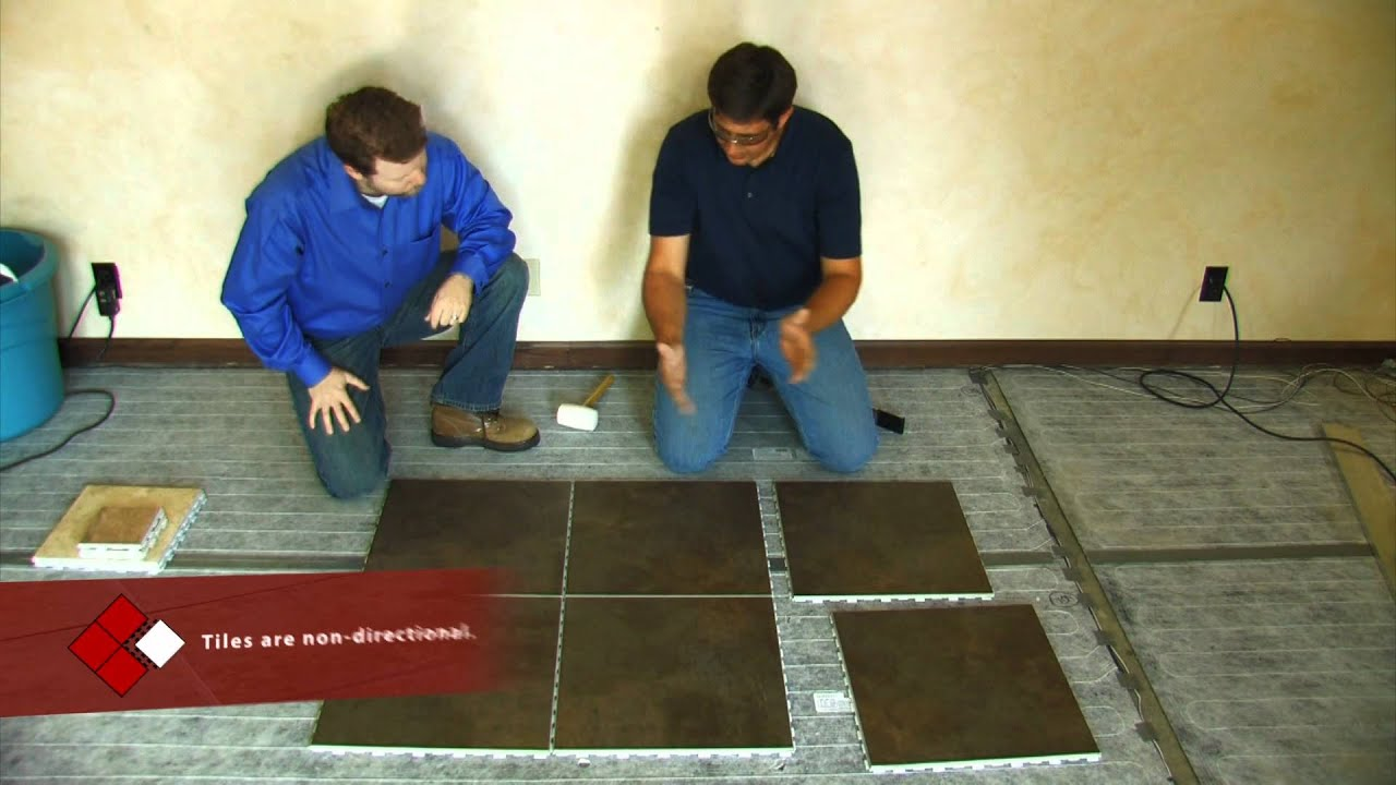 SnapStone Porcelain Tile Installation - Floor Installation - YouTube