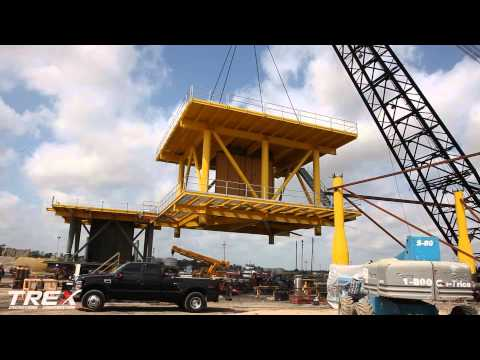 Shallow water Platforms Project--Topside Deck Installation at T-REX Fabrication Facility, Houston TX