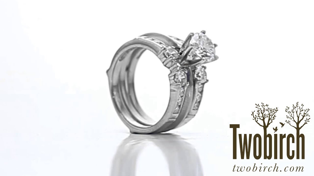 Embellished Three Stone Ring Guard Enhancer Ring Guard By Twobirch