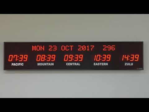 BRG Precision Product's 668L - 5 Zone, Fixed Zone,  Time Zone Clock Display