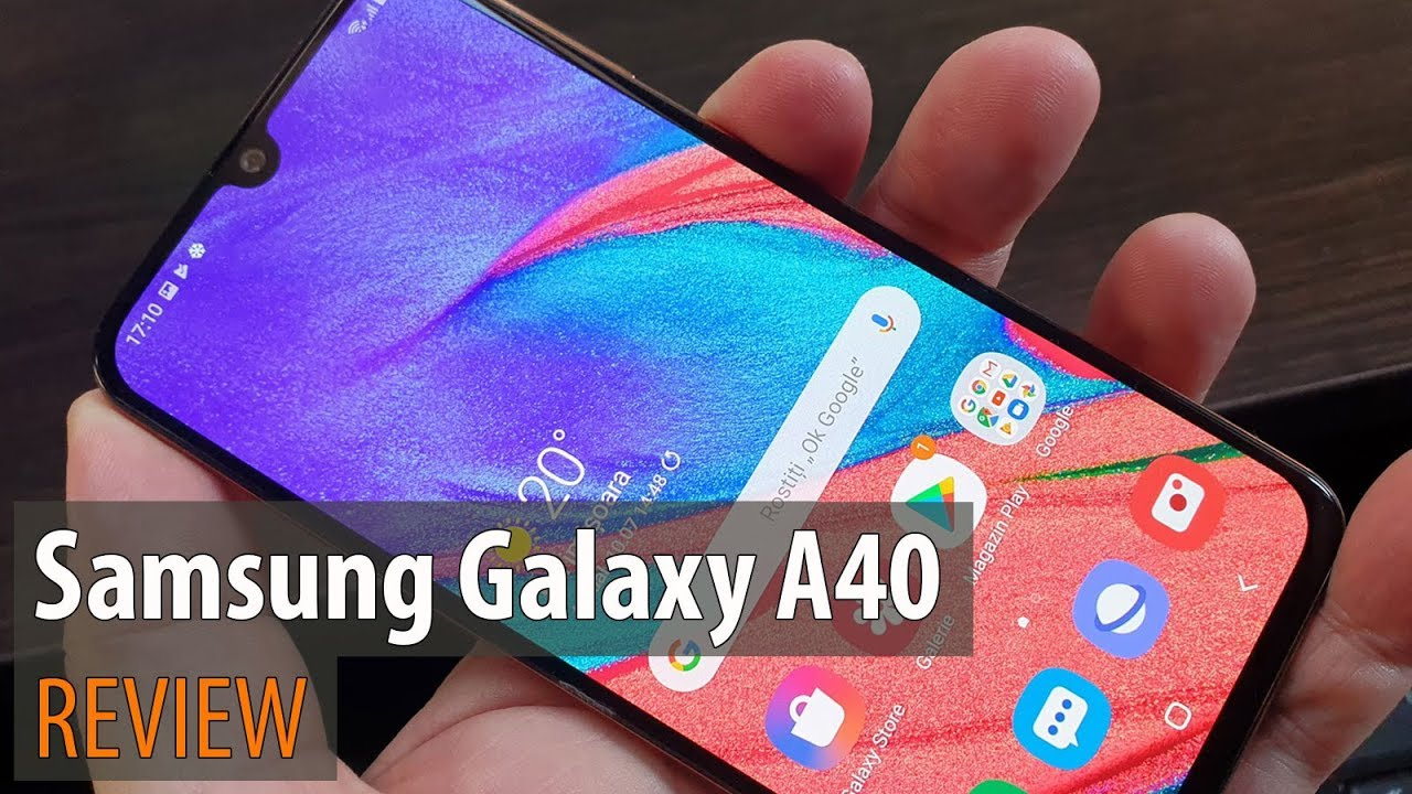 Samsung Galaxy A40 Review (Dual Camera Midrange Phone, Coral)