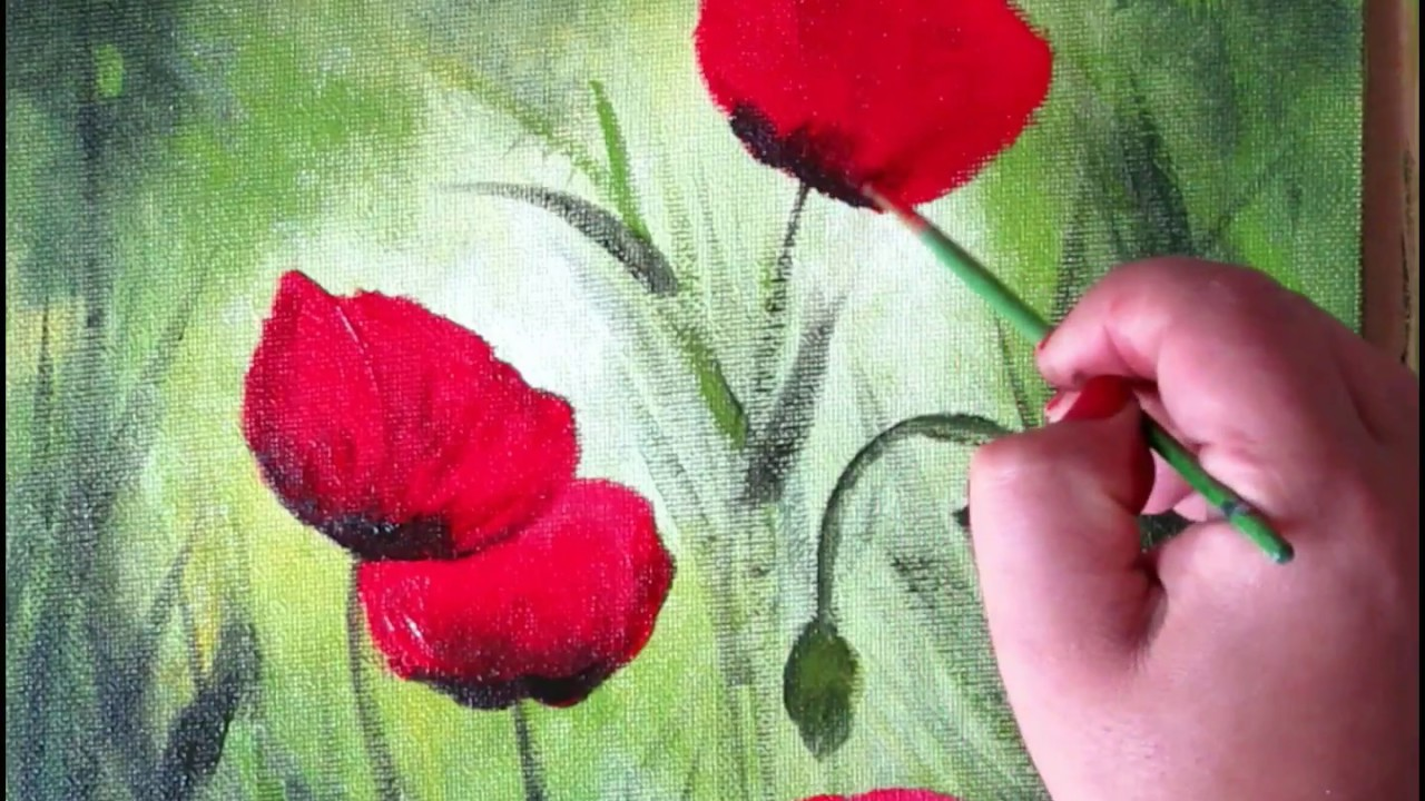 How to paint red poppy in acrylic on canvas panel step by step how to paint red poppy in acrylic on canvas panel step by step lesson mightylinksfo Gallery