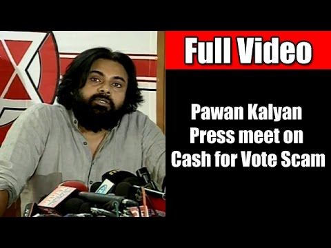 Pawan Kalyan Full Speech at Cash for Vote Press Meet | Praises KCR | Sensational Comments on AP MPs