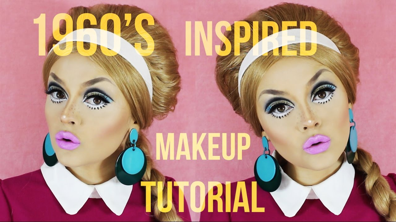 70s style makeup and hair 1960 s inspired makeup tutorial 9335 | maxresdefault