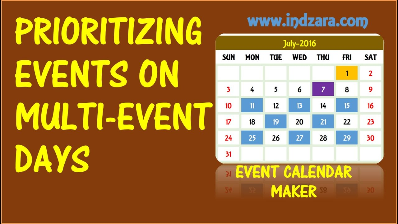 Event Calendar Maker Excel Template Prioritizing Events Youtube