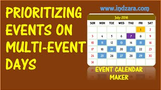 Event Calendar Maker - Excel Template - Prioritizing Events