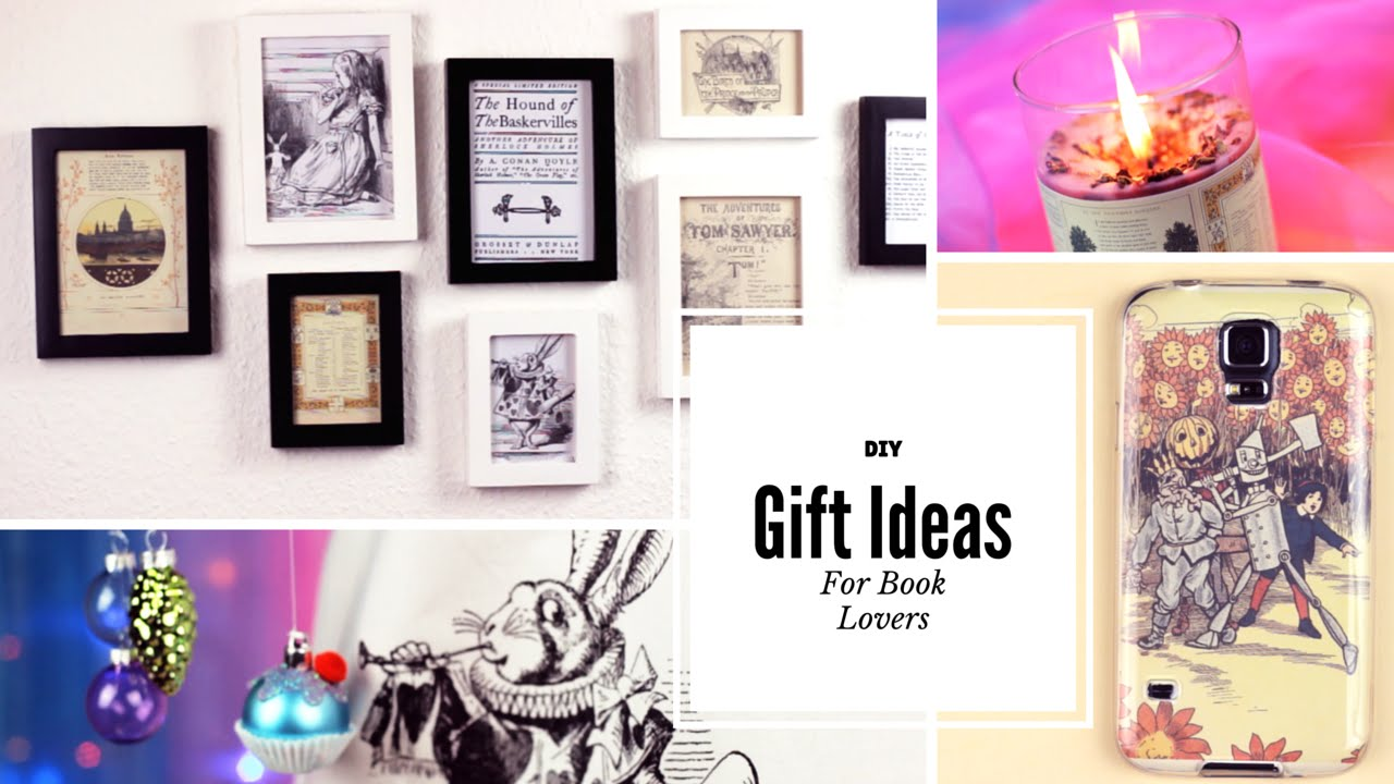 Diy Gift Ideas For Book Lovers Youtube