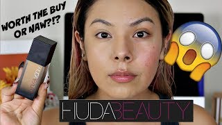 WORTH THE BUY OR NAW?!?|| HUDA BEAUTY FAUX FILTER FOUNDATION