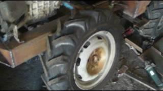 Самодельный минитрактор переломка 4х4. Узел перелома, узел поворта.Homemade tractor 4x4 .