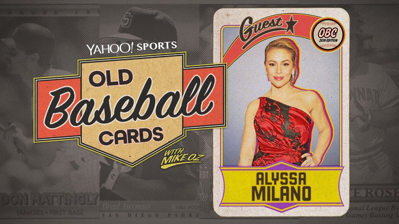 Alyssa Milano talks baseball fashion and her love the Dodgers | Old Baseball Cards