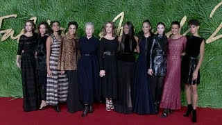 Naomi Campbell, Stephanie Seymour and more on the red carpet for the The Fashion Awards 2017