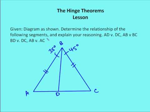 15.3 The Hinge Theorems (Lesson) - YouTube