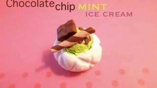 chocolate chip mint ice cream polymer clay tutorial