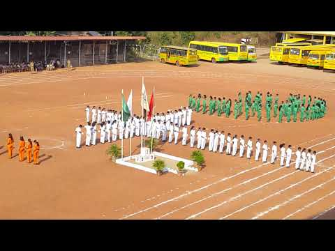 Unity in Diversity drill by Std V , SMSEMS (CBSE) Brahmavar..Annual Sports meet 2017- 18