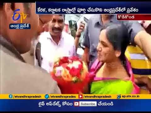 Nobel prize winner Kailash Satyarthi Receives Grand Welcome At Anantapur District