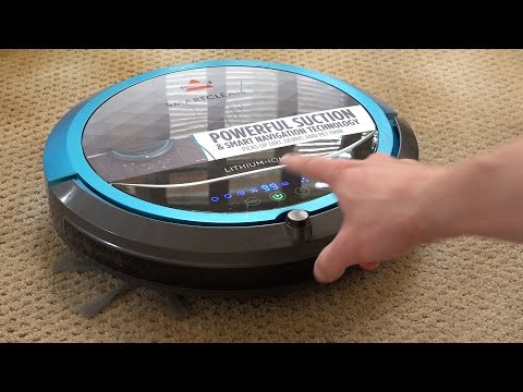 Bissell SmartClean Robot Vacuum - REVIEW: ► Bissell 1605 SmartClean Robot Vacuum (Amazon): http://amzn.to/1ZF6BMd ◄  This automated Smart Clean robot vac from Bissell has a lot of neat features for an affordable cost, very competitive to its competition. Triple action cleaning system: dual edge brushes, centered brush-roll and powerful suction to pick up dust, dirt, hair and debris. Easy self-adjusts to hard floor or carpet. Automatically docks and recharges itself when low on battery. Cliff detection avoids stairs, and an included invisible wall barrier to easily block it from entering rooms or areas.  Huge thanks to Bissell for sending me the unit to review. All opinions are my own.  === ► Subscribe!  http://bit.ly/authentechSubscribe »  Instagram: https://instagram.com/schmanke  ✪ My video equipment used: http://amzn.to/1ImVJtD ♫ Music: Canvai - Dreaming