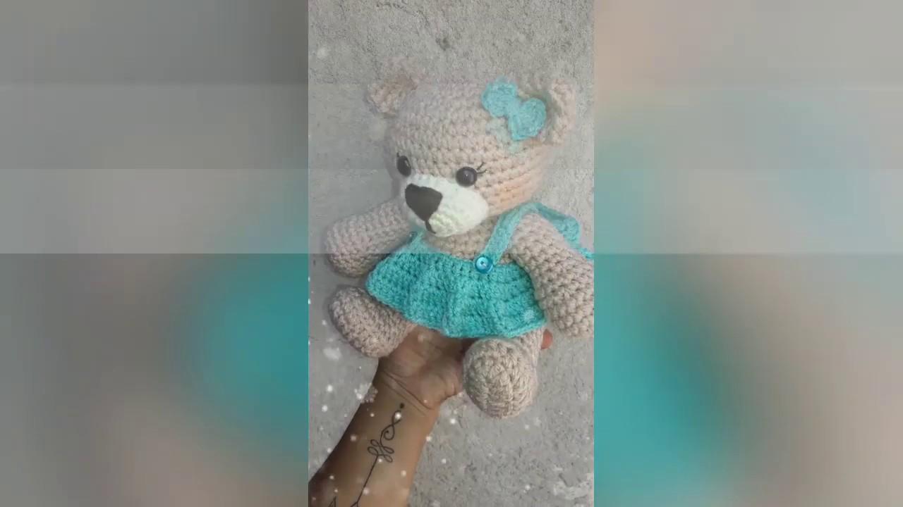 Encantadora chica conejita animal amigurumi con vestido encantador ... | 720x1280