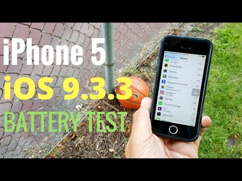 iPhone 5 iOS 9.3.3 Battery Test!