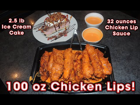 BUFFALO CHICKEN LIPS EATING CHALLENGE!!