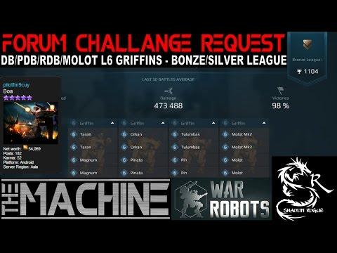 War Robots -Griffin Tutorial-Forum Member  challenge- pilotfm9cuy- L6 Griffins - Silver League