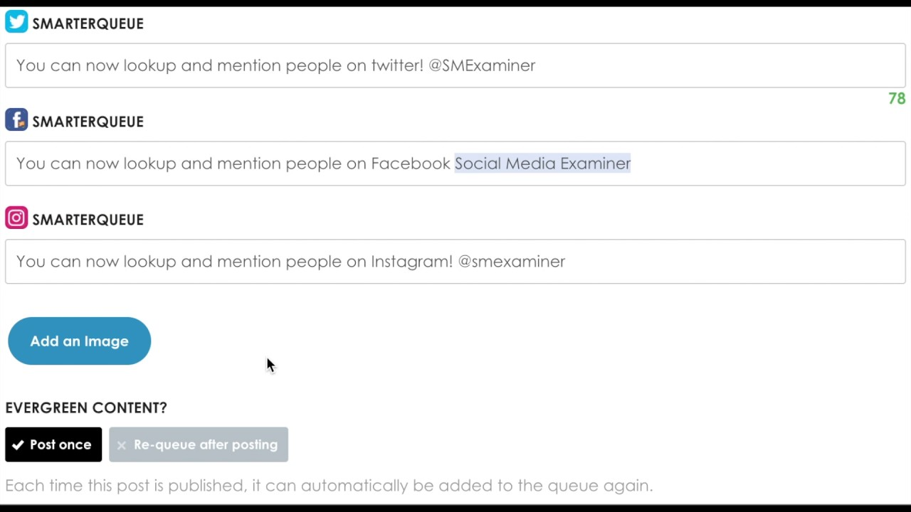 Tagging and mentioning accounts on social media with smarterqueue tagging and mentioning accounts on social media with smarterqueue ccuart Images