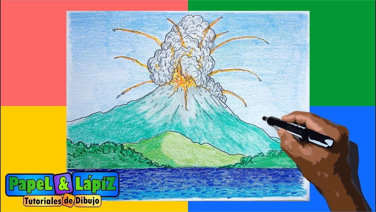 Aprende A Dibujar Y Pintar Un Volcán En Erupción