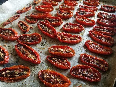 Как вялить помидоры в домашних
