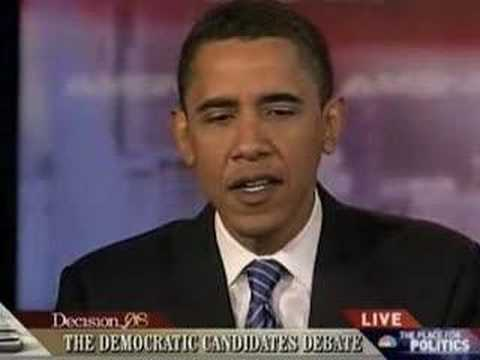 Barack Obama on Terri Schiavo