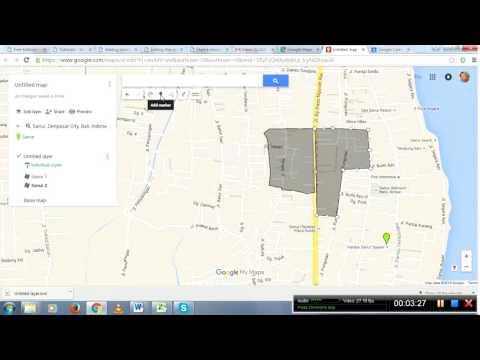 Program Dharma tutorials - making banjar divisions in Google My Maps