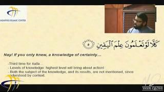 Khutbah: Tafseer of Surah At-Takathur   Celebrating Thanksgiving (2013-11-29) - Yasir Qadhi