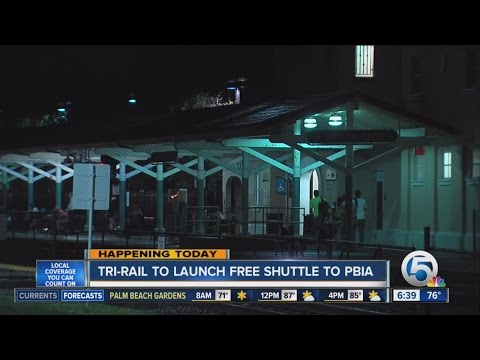 Free shuttle from West Palm Tri-Rail station to PBIA begins