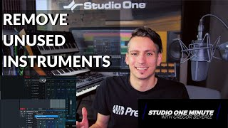 How to remove all unused Instruments #StudioOneMinute
