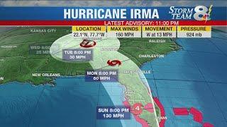 11 PM UPDATE: Hurricane Irma back to Category 5, making landfall on the Camaguey Archipelago of Cuba
