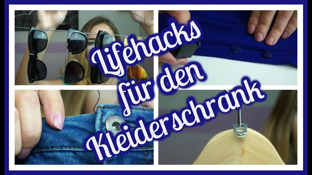 life hacks f r euren kleiderschrank fashion lifehacks weeklymel youtube. Black Bedroom Furniture Sets. Home Design Ideas