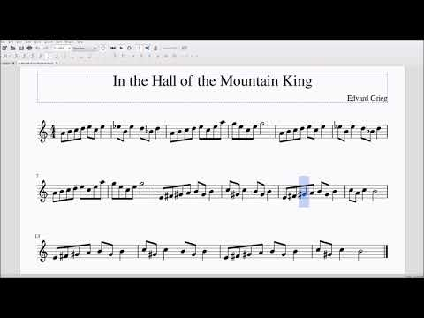 In the Hall of Mountain King Alto/Bari Sax Sheet Music