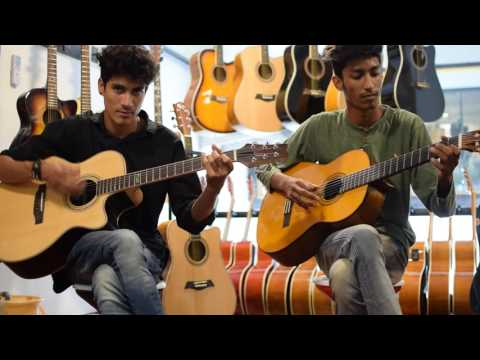 Tribute to amin toofani first time on two guitar cover gratitude