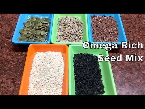 Healthiest Multi Seeds Mix(RICH IN OMEGA & PROTEIN)ओमेगा रिच बीज Vegetarian Source of Omega|| Seeds