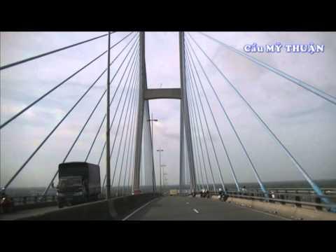 Cầu Mỹ Thuận trên Sông Tiền Giang