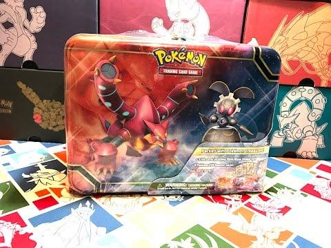 Pokemon 2016 Collectors Chest Treasure Tin Magearna Volcanion M Gengar Ex