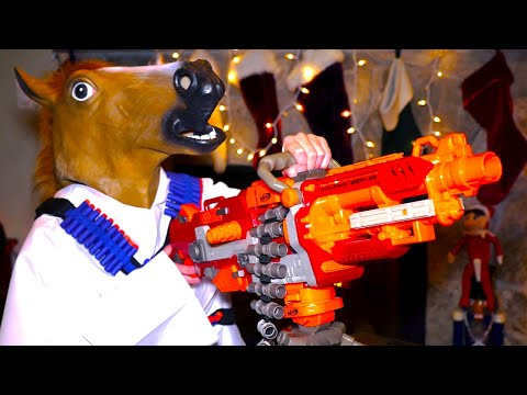 Thumbnail: Nerf War: Christmas Battle 2