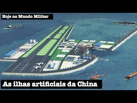 As ilhas artificiais da China
