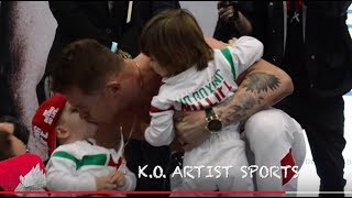 BEAUTIFUL! CANELO KISSES HIS KIDS AS SERGEY TRIES MAKING WEIGHT 2ND TIME AROUND!