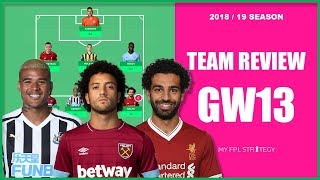 TEAM REVIEW – GAMEWEEK 13 TRANSFER THOUGHTS | Fantasy Premier League 2018/19