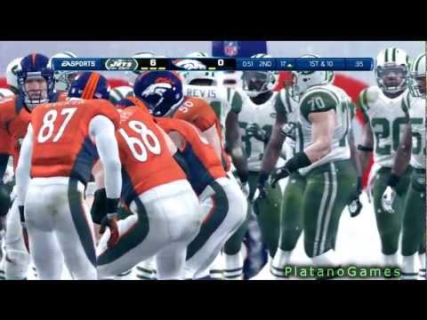NFL Playoffs 2013 - New York Jets vs Denver Broncos - Sanchez vs Manning - 1st Half - HD