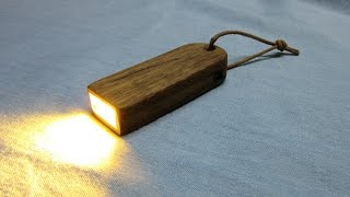 Making a Pocket Wooden Flashlight with USB Charging