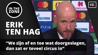 Erik ten Hag: 'We zijn af en toe wat doorgeslagen, dan zat er teveel circus in' Video