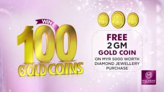 Win up to 100 Gold Coins at Malabar Gold & Diamonds