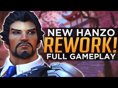 Overwatch NEW Hanzo REWORK Gameplay!  ALL Abilities Breakdown!