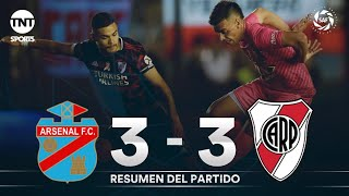 Resumen de Arsenal vs River Plate (3-3) | Fecha 10 - Superliga Argentina 2019/2020